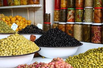 Spices shop in the medina of Marrakech, Morocco