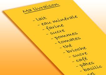 Liste de courses Livraison