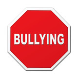 Bullying stop octagon sign poster