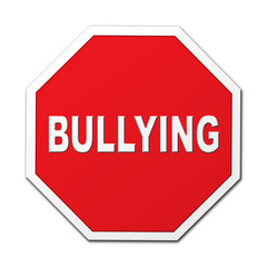 Bullying stop octagon sign
