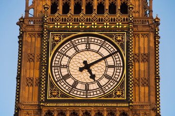 Detail of the clock Tower in London, also called Big Ben