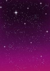 Stars in the sky, vector image.