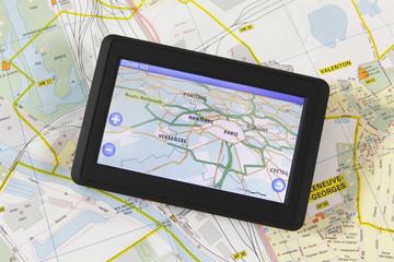 GPS avec carte