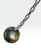 world with a chain