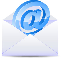 Letter with e-mail icon
