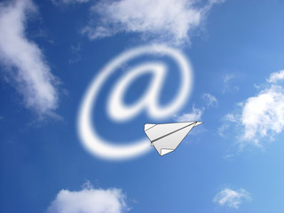 speed internet like paper plane in sky