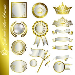 Gold and Silver Elements