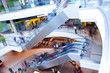 People in rush in a modern shopping mall, centre