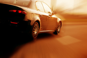 Fast sport car, abstract speed motion