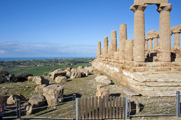 Temple of Hera in the Valley of Temples, Agrigento, Sicily
