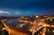 Blick auf abendliches Porto, Portugal