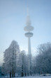 canvas print picture - Heinrich-Hertz-Turm im Winter