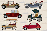 Background with vintage cars