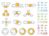 Diagrams icon set handwritten