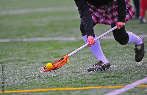Girls lacrosse ball pick