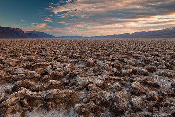 Devil's Golf Course in the Badwater Basin, Death Valley