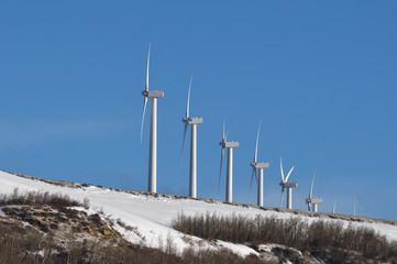 Modern Windmill in Wyoming