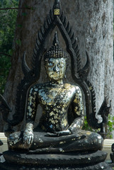 Black sitting buddha.
