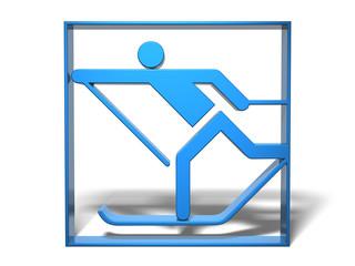Sport Piktogramm Langlauf