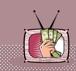 TV shop Business by TV Money illustration