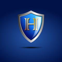 Logo shield initial letter H # Vector