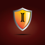 Logo shield initial letter I # Vector