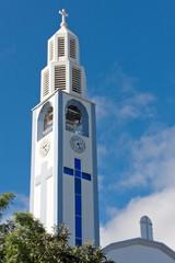 """clocher de l'église """"Notre-Dame des Neiges"""", Cilaos, Réunion"""
