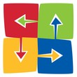 Four interchanging colorful Arrows