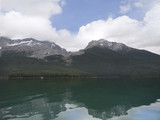 Maligne Lake and Spirit Island near Jasper in Alberta Canada poster