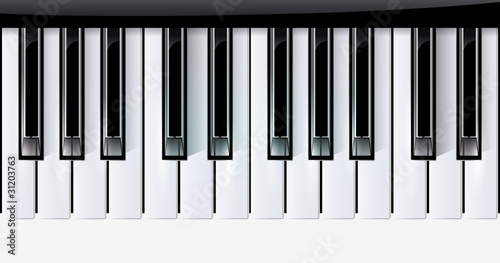 Vector keys piano music instrument. eps10 with transparency - 31203763