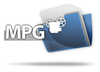 "3D Style Folder Icon ""MPG"""
