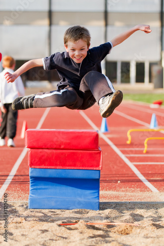 jumping young kid