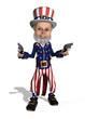 Uncle Sam as a Gunslinger - 3d render