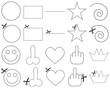 dashed symbols