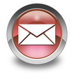 "Red Glossy Pictogram ""E-Mail"""
