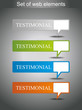 Set of web testimonial icon design