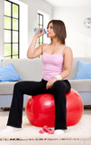 thirsty fitness woman poster