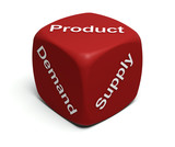 Demand, Supply, Product poster