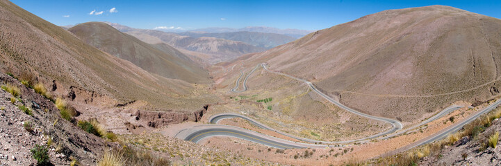 Mountain pass in the  Andes Mountain Range, Argentina