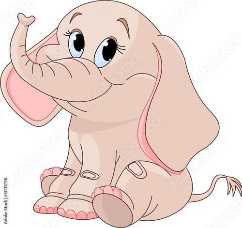 Zdjęcia na płótnie, fototapety na wymiar, obrazy na ścianę : Cute Baby elephant
