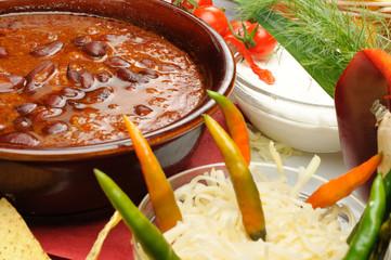 zuppa di fagioli alla messicana