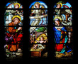 Nativity Scene - Christmas stained glass