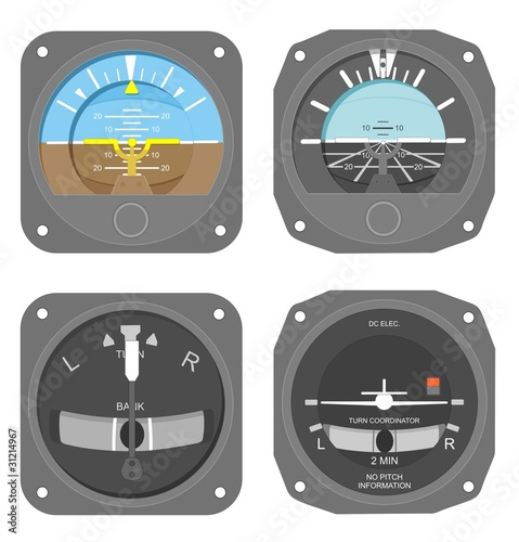 Aircraft instruments set #1