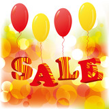 Abstract sale background with balloons. EPS10