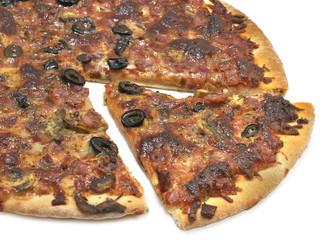 Porción de pizza.