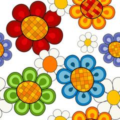 Effortless vivid floral pattern