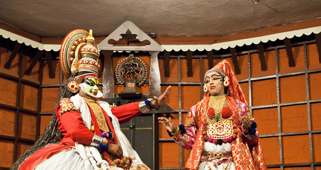 FORT COCHIN - MARCH 06: Kathakali performer