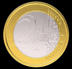 2 Euro: EU currency coin