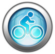 "Glossy 3D effect button ""Bicycle Symbol / Bicycle Trail"""