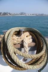 cordage et paysage maritime